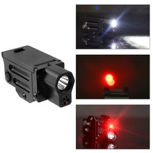 220 Lumens Hunting Tactical LED Flashlight Red Laser Weapon Light Mini Sight Accessories Tactical Riflescope Guns Accessories(China)