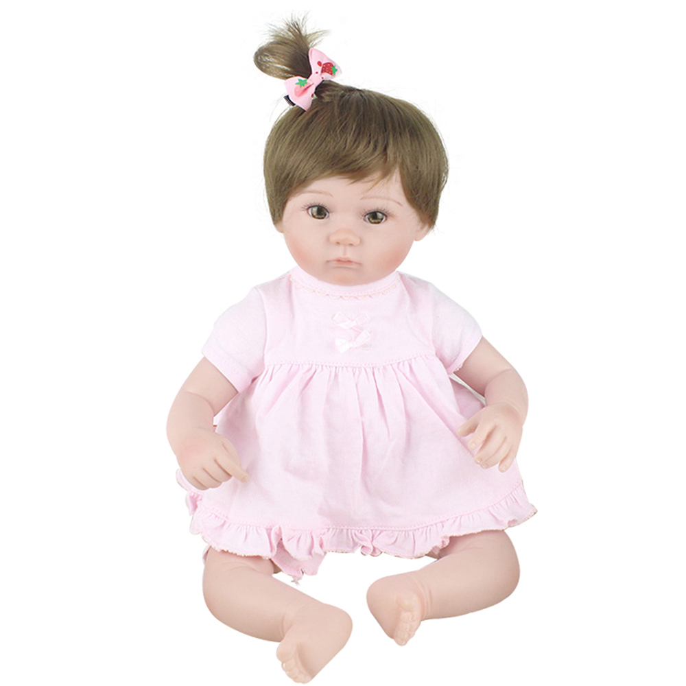 KAYDORA 17 inch 42cm Silicone Reborn Baby Doll Alive Lifelike Real Doll Realistic Princess Girl Toys Kids Reborn Babies Gifts keiumi realistic silicone reborn babies doll lifelike 22 princess baby girl doll gold hair bebe reborn toys for kids gifts