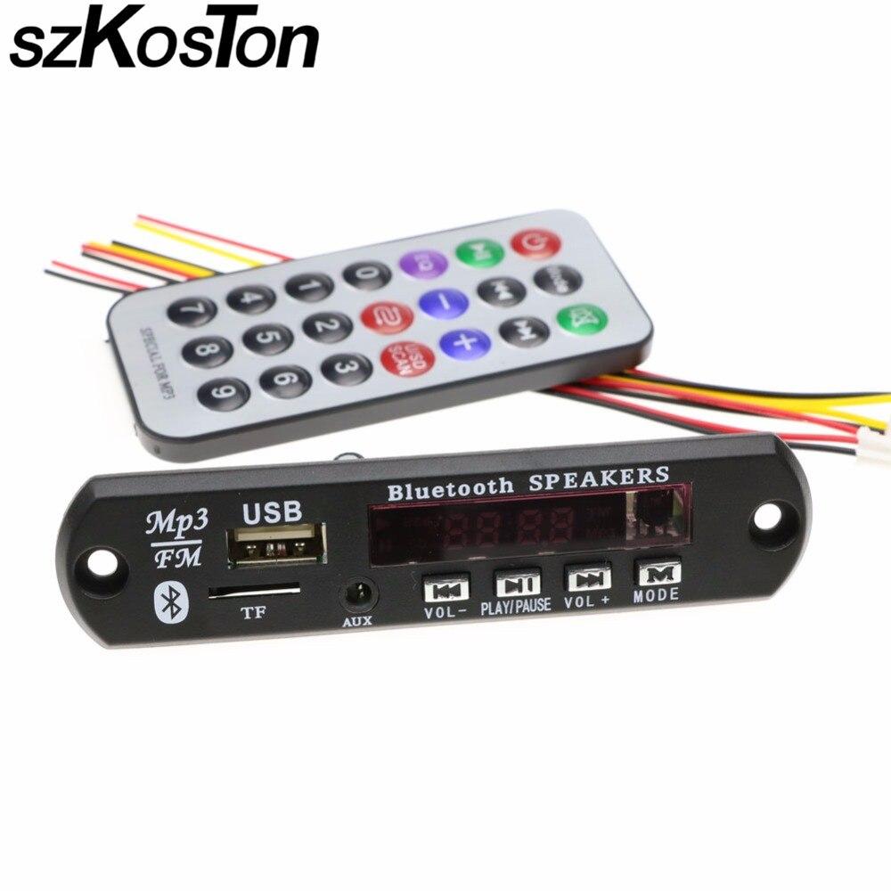 Bluetooth MP3 decoder board module SD card slot/USB/FM/remote M011 AUX FLAC Decoder Board Audio Module TF Radio For Car
