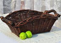 KINGART Wicker Neatening Fruit Basket Handmade Storage Food Bread Box Willow Bread Bins Woven Straw Basket With Wood Color