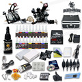 Professional Tattoo Kit 21 color Ink Power Supply 2 Machine Guns