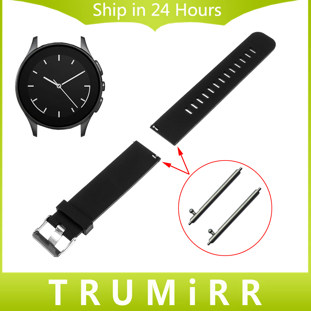 21mm 22mm quick release silicone rubber watchband universal watch band wrist strap stainless steel buckle belt bracelet black Quick Release Silicone Rubber Watchband 22mm for Vector Luna Meridian Smart Watch Band Stainless Steel Buckle Strap Bracelet