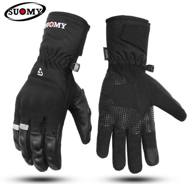 SUOMY Waterproof Motorcycle Gloves Men Women Touch Screen Winter Warm Motocross Gloves Outdoor Ski Cycling Guantes