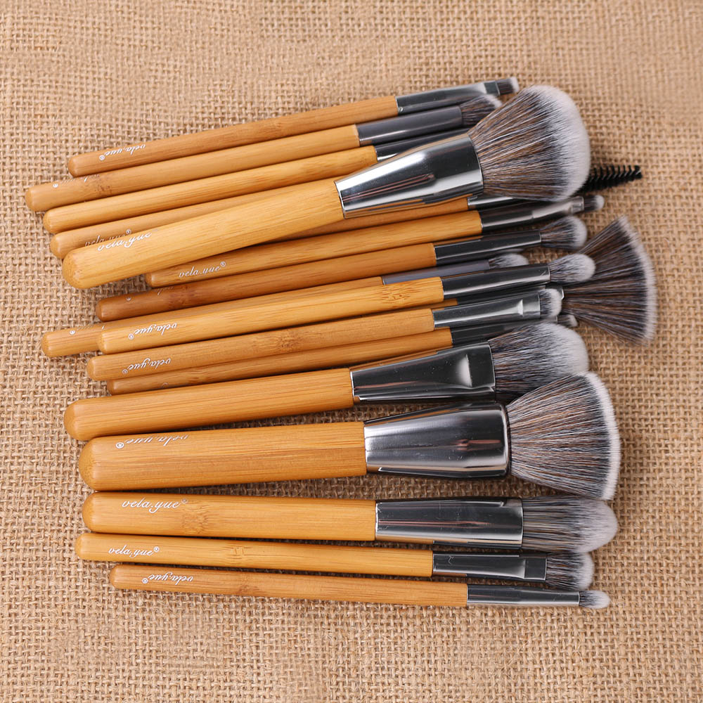 Velayue 5 to 18 Pcs Makeup Brush Set including Flat Top Brush and Fluffy Brush for Full Face and Eye Makeup 2