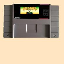 Super Mari All-Stars + Super Mari World 46 Pin 16 Bit Grey Game Card For USA NTSC Game Player