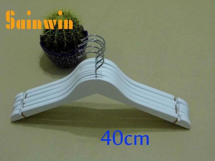 Sainwin 5pcs/lot Adult And Children Wood Hangers Slip-resistant Solid Hanger Baby Wooden Hangers For Clothes Rack