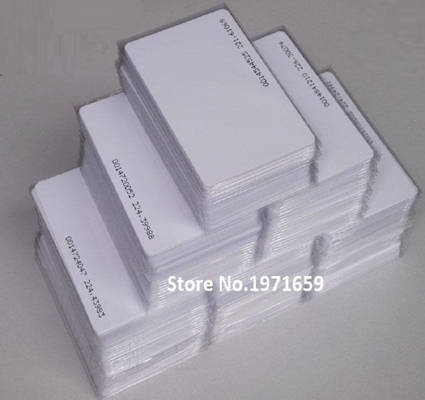 200pcs/lot 125Khz White TK/EM4100 RFID Tags ID thin Cards for Door Control Entry Access Control System