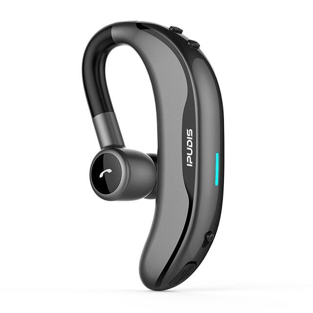 IPUDIS écouteurs sans fil oreille crochet écouteurs bluetooth 170 mAh unique mains libres avec Microphone pour la conduite