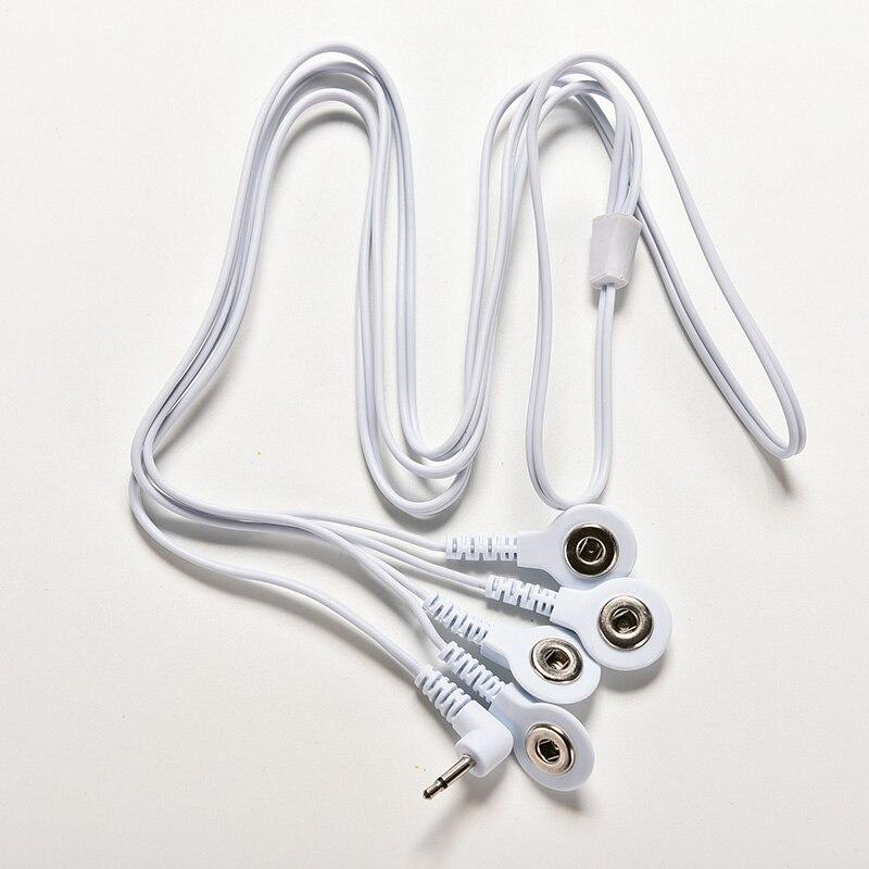 1pc Elektrode Blei Drähte Anschluss Kabel für Digitale ZEHN Therapie Maschine Massage Elektrode Draht Stecker 2,5mm 4 Tasten