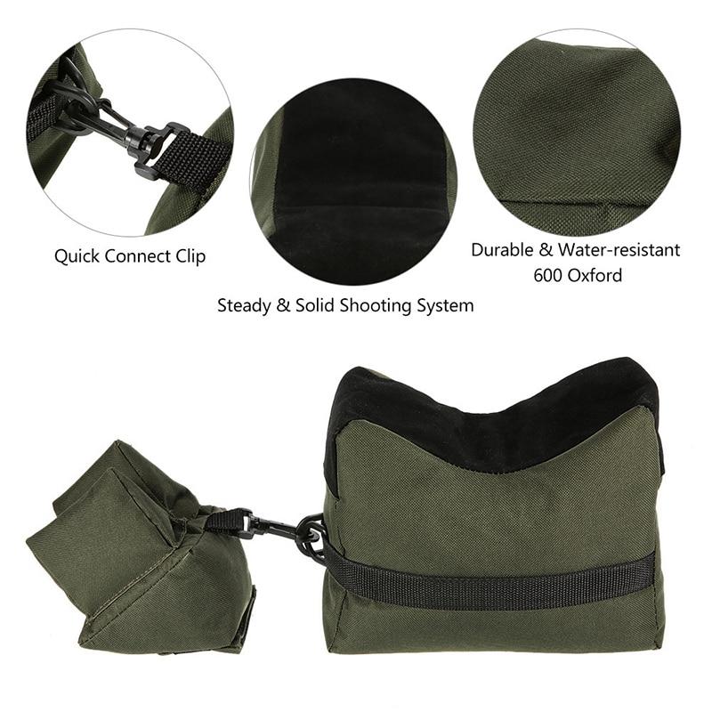 Front & Rear Gun Bag Tactical Hunting Rifle Support Outdoor Airsoft Shooting Bench Sandbag