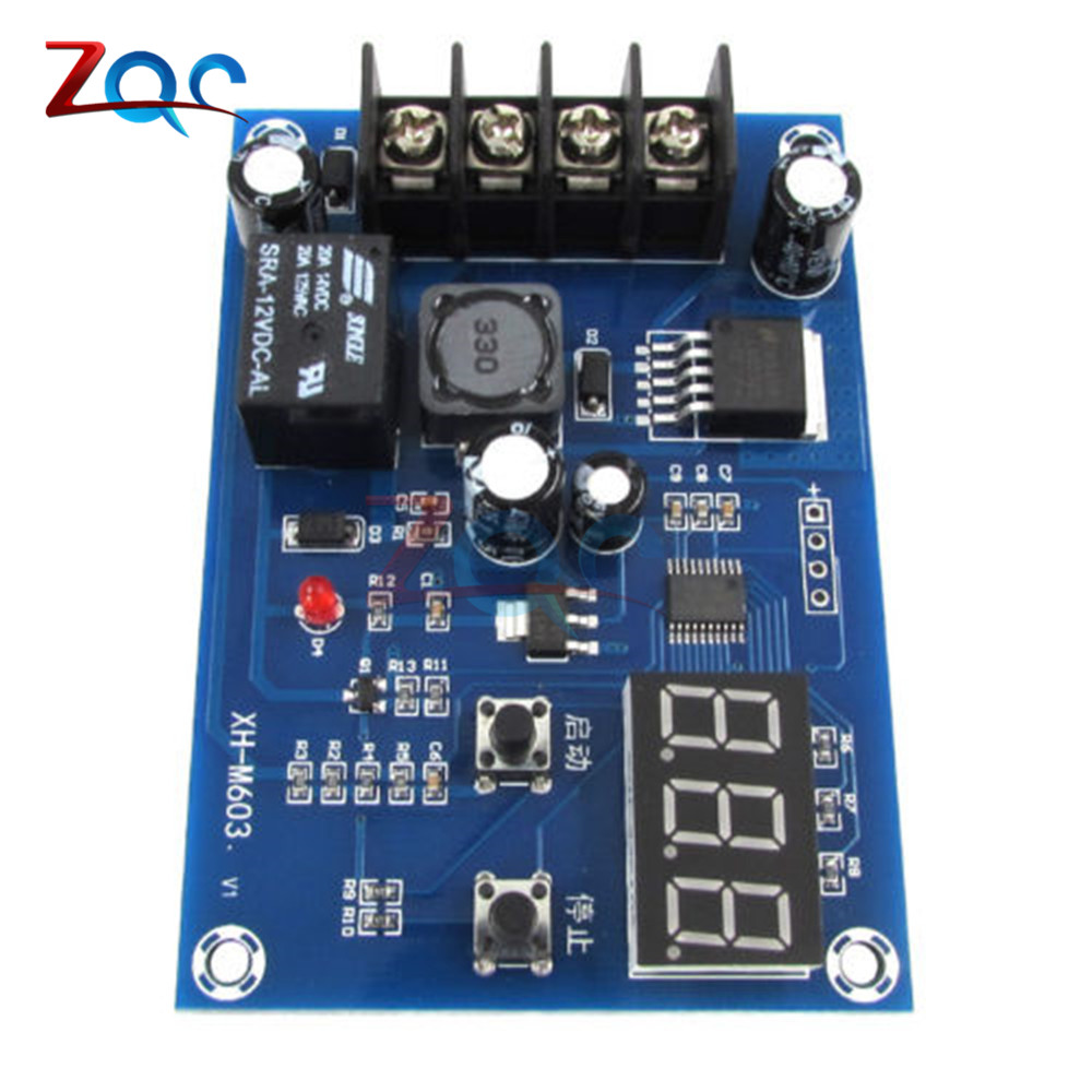 Image 3 - XH M603 Charging Control Module 12 24V Storage Lithium Battery Charger Control Switch Protection Board With LED Display-in Instrument Parts & Accessories from Tools