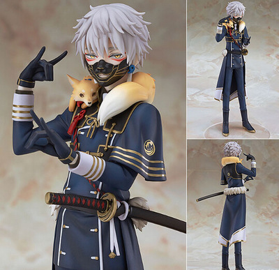 22cm Japanese anime figure Touken Ranbu Online Nakigitsune action figure collectible model toys for girls touken ranbu online game tachi shishiou anime cosplay wig gold yellow hair