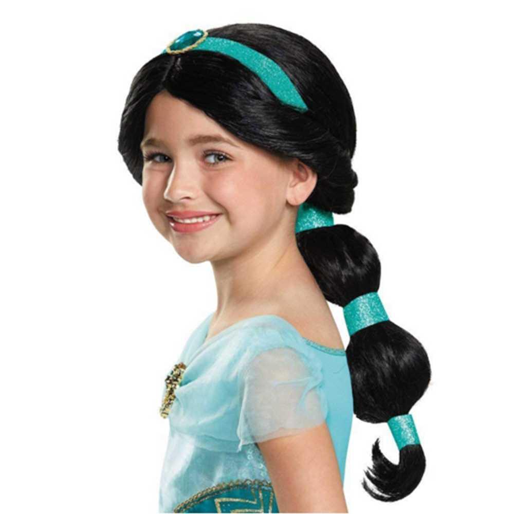 Mädchen Jasmin Kostüm Halloween Cosplay kinder Set Kind Kleider Mädchen Jasmin Prinzessin Kleid Bühne leistung zeigen Kostüm