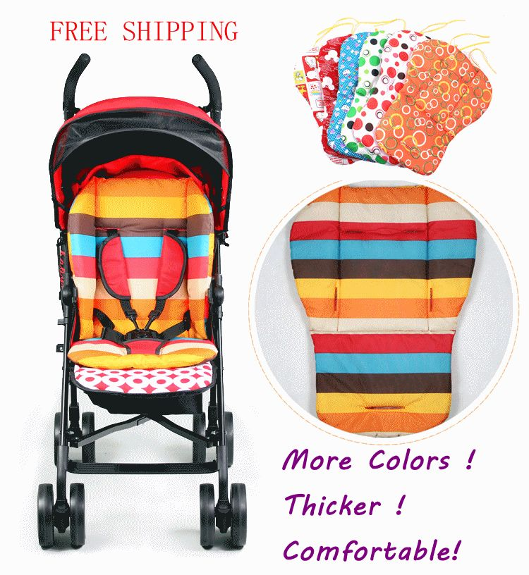 Waterproof Baby Stroller Cushion Cover Pad Pram Padding Liner Car Seat Rainbow General Cotton Thick Mat Free Delivery In Strollers Accessories From