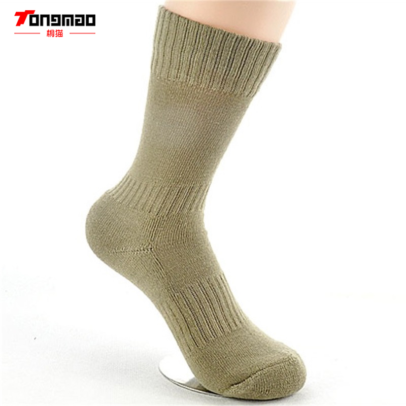 TONGMAO Winter Men Military Resisting Bacteria Preventing Stink Elastic Long Socks Army Pile Towel Cold Protection Thicken Socks
