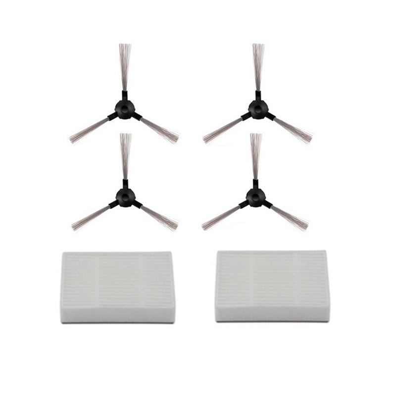 2* Hepa Filter +4* Side Brush For Midea MR04 Robotic Vacuum Cleaner Parts Accessories