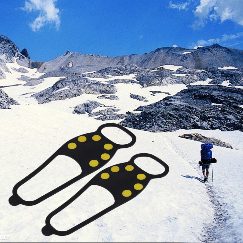 Прочный лед снег противоскольжения обуви шипы Ручки рулевые для мотоциклов кошки Пеший Туризм Рыбалка новые новое поступление