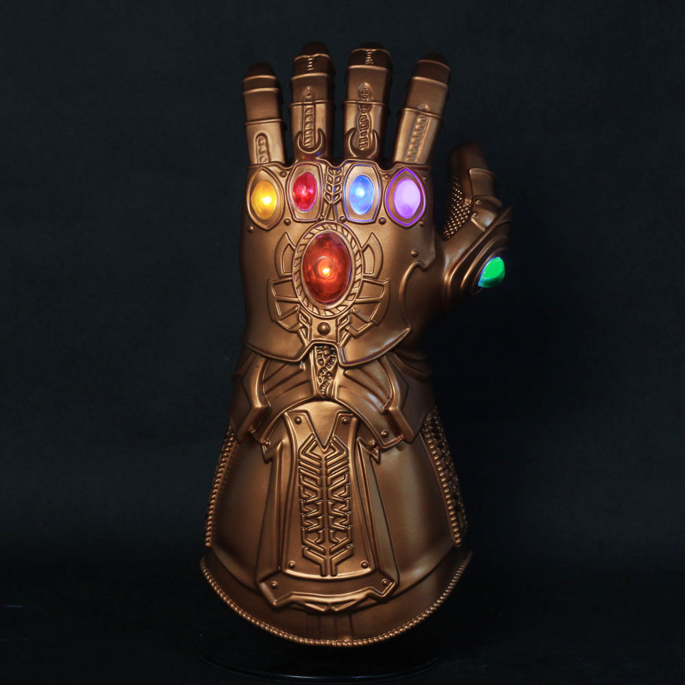 Infinity Gauntlet Cosplay Avengers Endgame Thanos Costume Accessory 4 Gloves Halloween Carnival Party Props