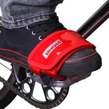 WOHO велосипед MTB дорожный велосипед фиксированная Шестерня Фикси BMX педальные ремни противоскользящие двойные клейкие ремни педаль носок зажим ремень