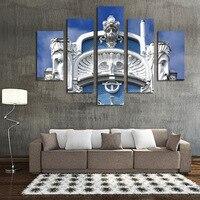 Römischen Stil Gebäude Ungerahmt 5 stücke Hohe Qualität Billige Art bilder Große HD Moderne Home Decor-leinwand-druck Öl malerei