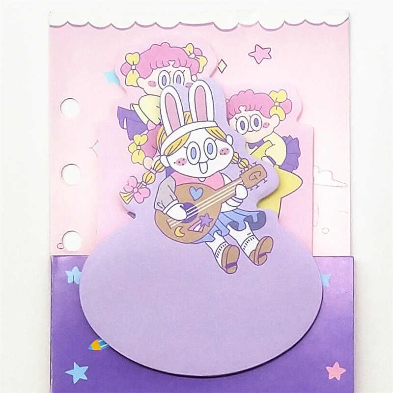 Kawaii Корейская девушка Мелодия Две звезды блокнот для заметок планировщик Diy самоклеющиеся липкие заметки милый канцелярский школьный офисный подарок