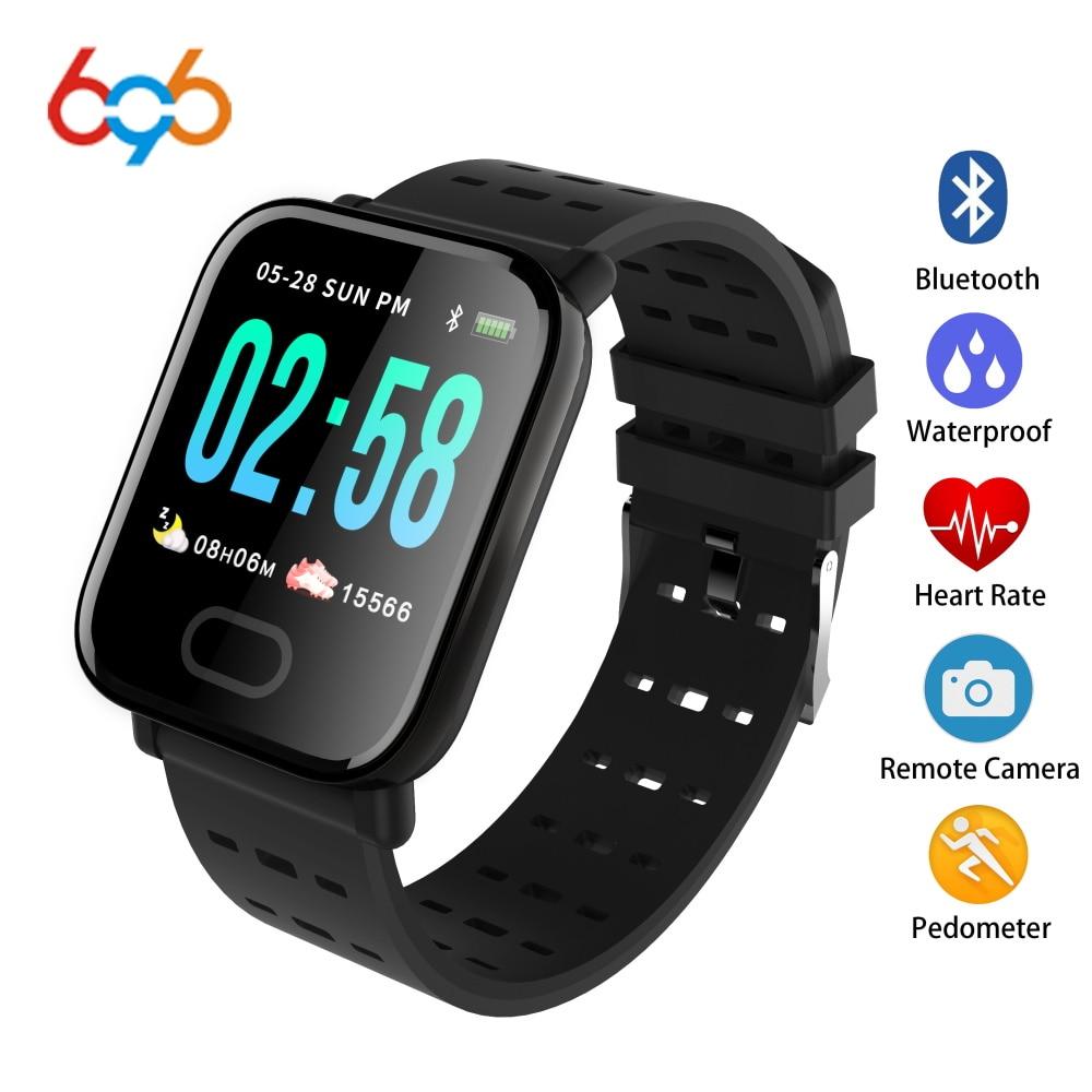 696 LJL08 Smart Armband männer Sport Fitness Tracker A6 Herz Rate Monitor Blutdruck Anruf Erinnerung Armband fo Android iOS