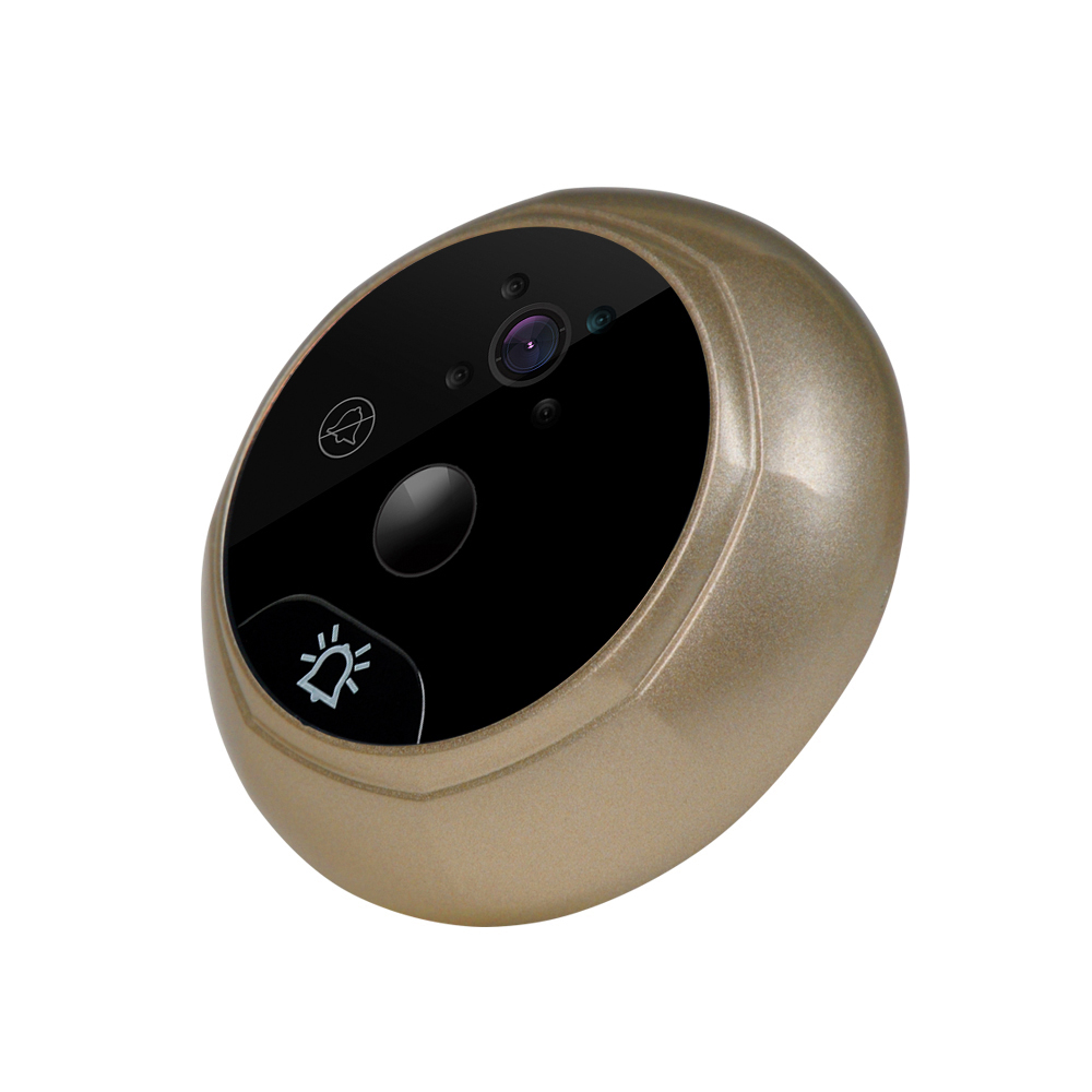 Купить с кэшбэком 2.4 Inch Doorbell Viewer Digital Door Wireless Video Peephole Camera IR Night Vision Motion Sensor 1MP Automatic capture