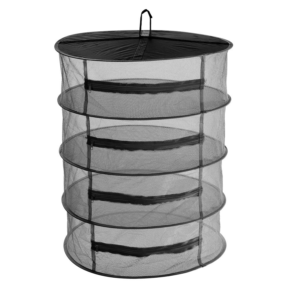4 Layer Closed Type Air Drying Net Dust Proof Insect Proof Herbal Medicine Storage Bag Folding Hanging Hollowing Drying Rack
