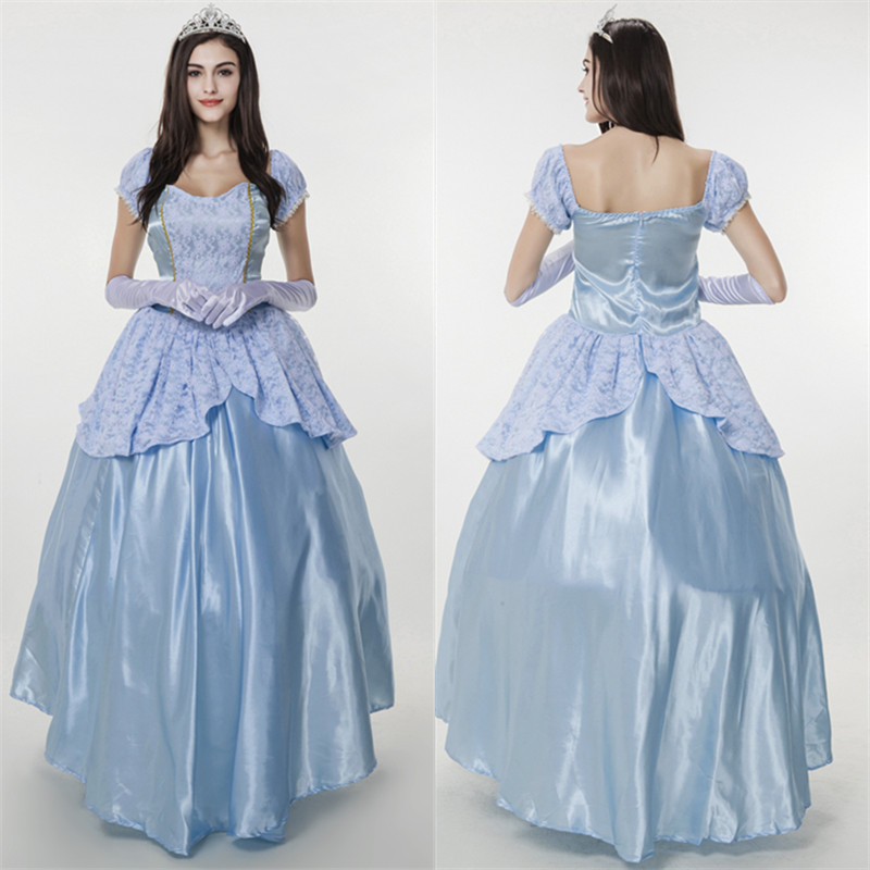 Halloween party costumes SISSI cosplay Christmas women fancy blue court dress for adult ball queen clothing dresses