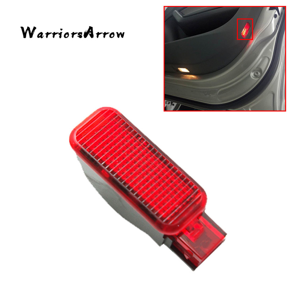 WarriorsArrow Red Door Panel Warning Light Lamp For <font><b>Audi</b></font> A3 A4 B8 A5 <font><b>A6</b></font> A7 A8 Q3 Q5 TT RS 8KD947411 6Y0947411 4FD947411 image
