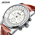 Stopwatch Famous Brand JEDIR men watch waterproof Male watches Genuine leather Chronograph quartz wristwatches horloges mannen