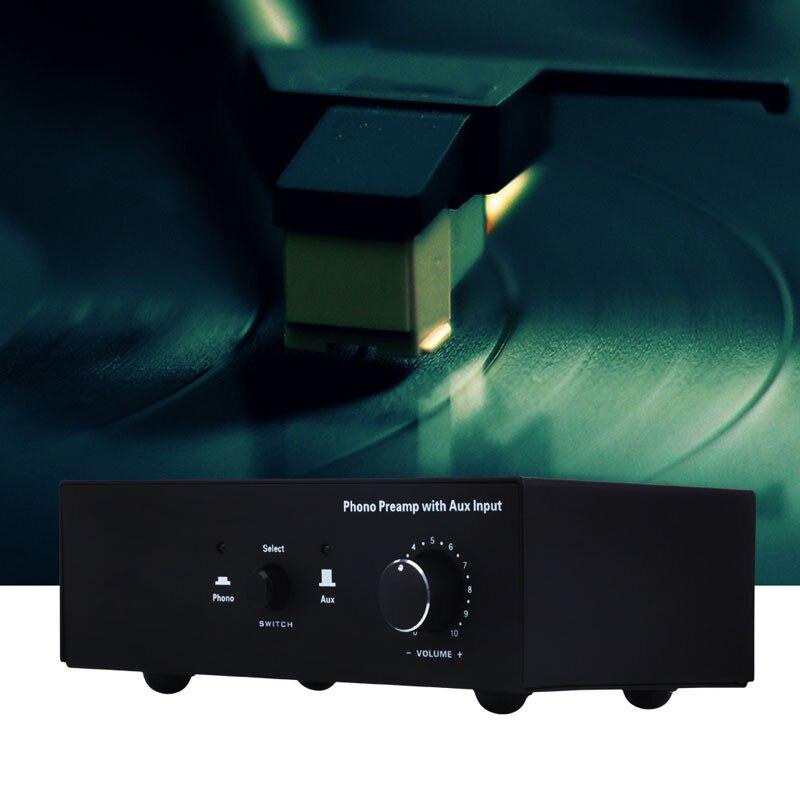 Phono platine vinyle préampli Signal amplificateur préphonographe avec entrée auxiliaire contrôle du Volume HJ55 - 2