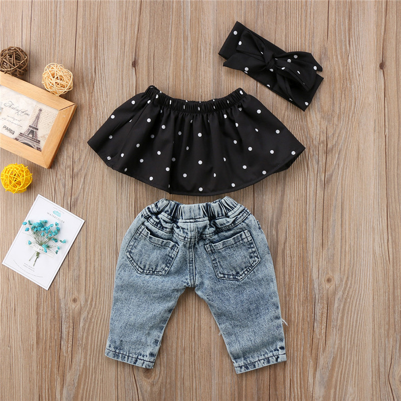 Poloru Toddler Baby Girls Letter Printed Black Mesh Romper Skirt Dress with Gold Bowknot Hairband