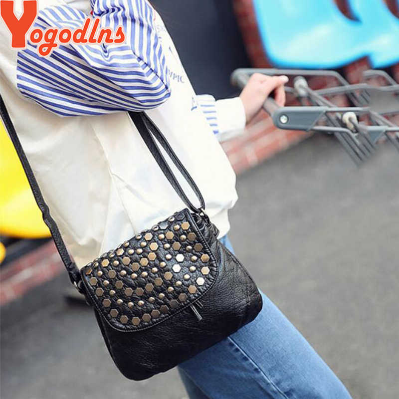 Yogodlnsファッション黒enveljavascope女性クラッチリベット女の子革パーティー財布スモールショルダーバッグハンドバッグイブニングメッセンジャーバッグ