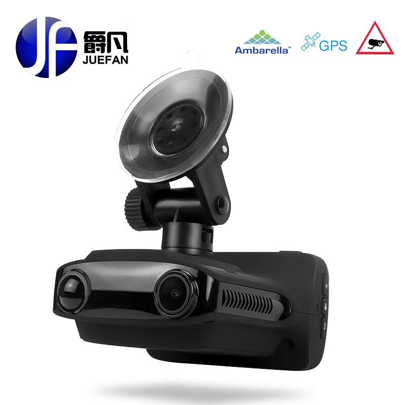 JUEFAN Multifonction voiture dvr gps dvr radar détecteur de Survitesse rapide FHD1296P Enregistreur Russe Langue Voiture Caméra dash caméra