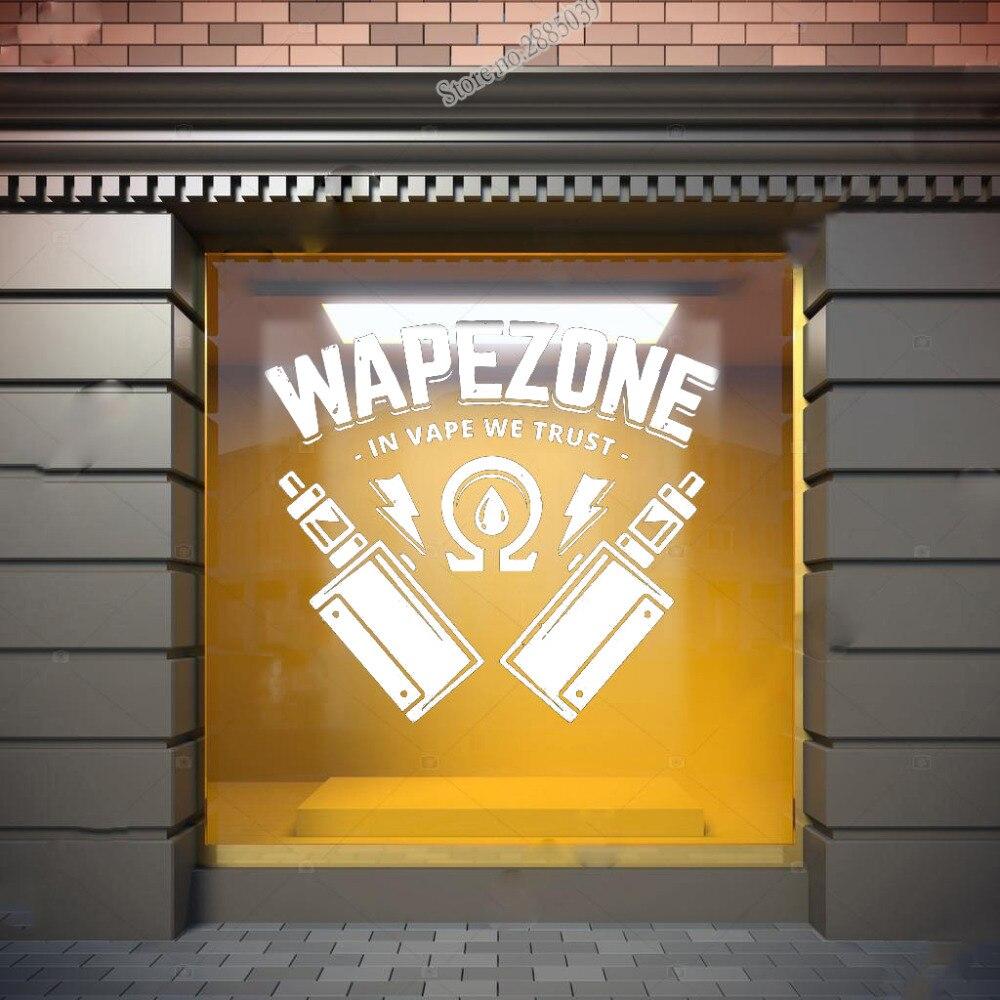 Vape Wall Window Decal Sticker Vape Shop Vaping Vape Store Logo Handmade 1513