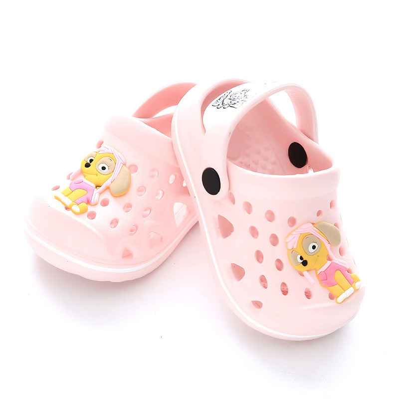 YAUAMDB kids Mules   Clogs 2018 summer PVC boys girls flat with sandals  cartoon dog wearable beach casual children shoes zy13-in Mules   Clogs from  Mother ... 52684e3d86f