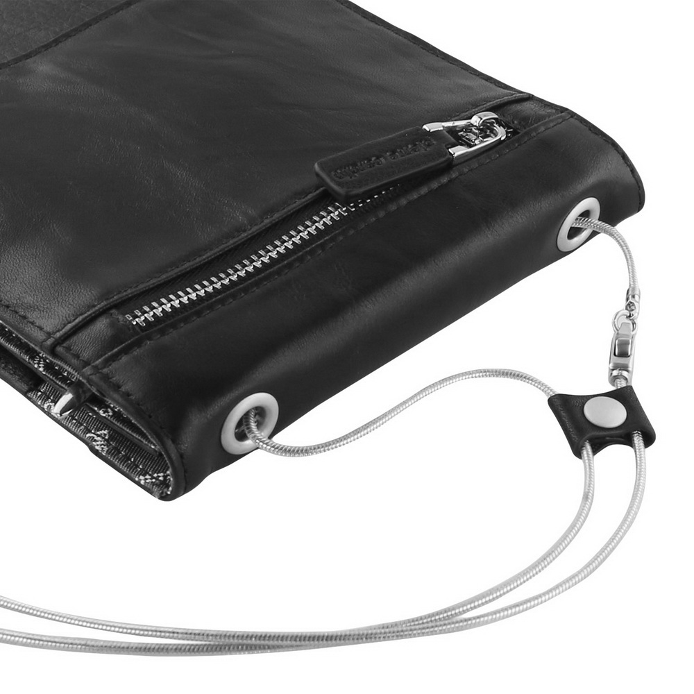 Pierre Cardin Male Shoulder Bag Man Bag Cowhide Genuine Leather Bag Strap For Oneplus One Plus 3 3T 5 6 Pouch Mobile Phone Bag