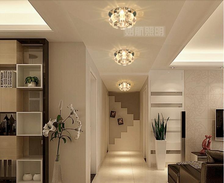 3w Bedroom Led Crystal Ceiling Lamps For Home Modern Living Room Spotlights  Aisle Lights Chandelier Lighting