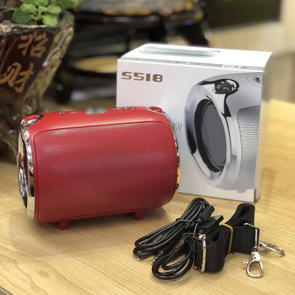 Image 3 - New S518 music mini subwoofer plug in card wireless bluetooth speaker with radio function  music player Boom box sound system wi-in Subwoofer from Consumer Electronics