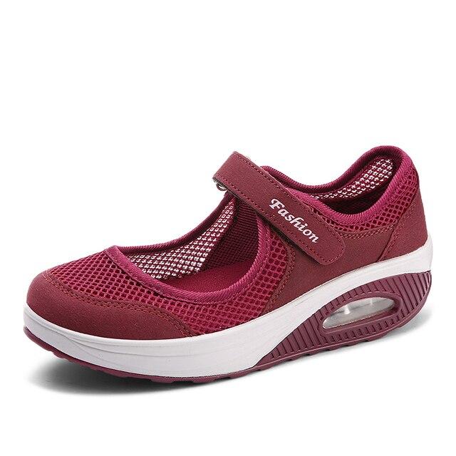 Venta caliente genuino diseño unico en venta US $17.23 30% OFF Plus Size 42 Brand Tenis Mujer 2018 Women Tennis Shoes  Breathable Gym Sport Shoes Women Stability Sneakers Athletic Shoes  Fitnes-in ...