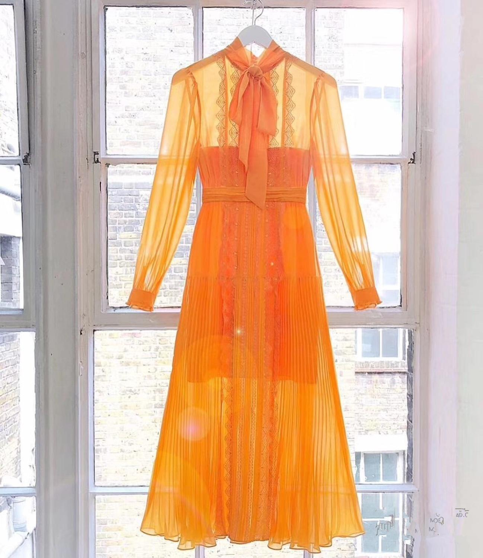 2019 ใหม่มาถึงผู้หญิงสีเหลืองชุด-ใน ชุดเดรส จาก เสื้อผ้าสตรี บน   1