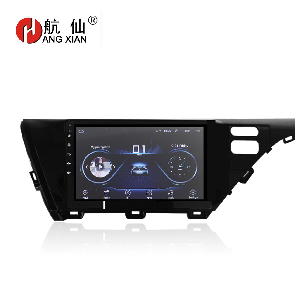 "HANG XIAN 10.1"" Quadcore Android 8.1 Car radio stereo for Toyota Camry 2018 car dvd player GPS navigation car audio WIFI"
