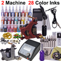 Kit de tatuaje equipo herramienta completa tatuaje máquina 2 28 color linksYLT-38 máquina de tatuaje de cejas