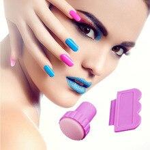 Nail Art Image Stamp Stamping Plates Manicure Set For DIY 1 Stamper 1 Scraper Nail Stamp