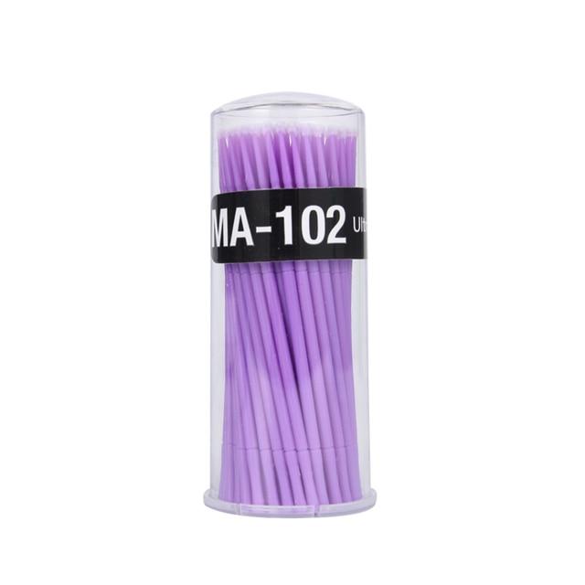 100Pc/Bottiglia di Microblading Pennelli Ciglia Individuale La Rimozione di Strumenti Del Tatuaggio Usa E Getta Tampone di Micro pennelli Strumenti di Estensione Del Ciglio