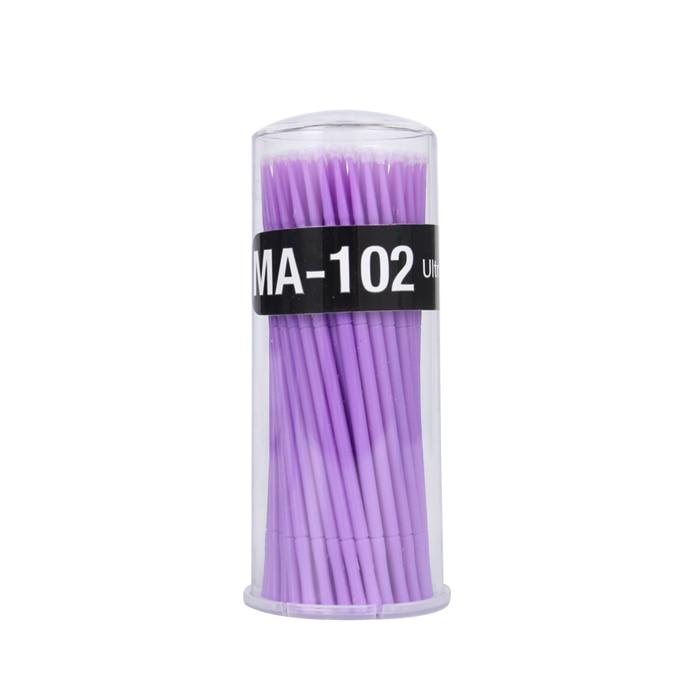 100Pc/Bottle Microblading  Disposable Tattoo Brushes Individual Lash Removing Tools Swab Micro Brushes Eyelash Extension Tools