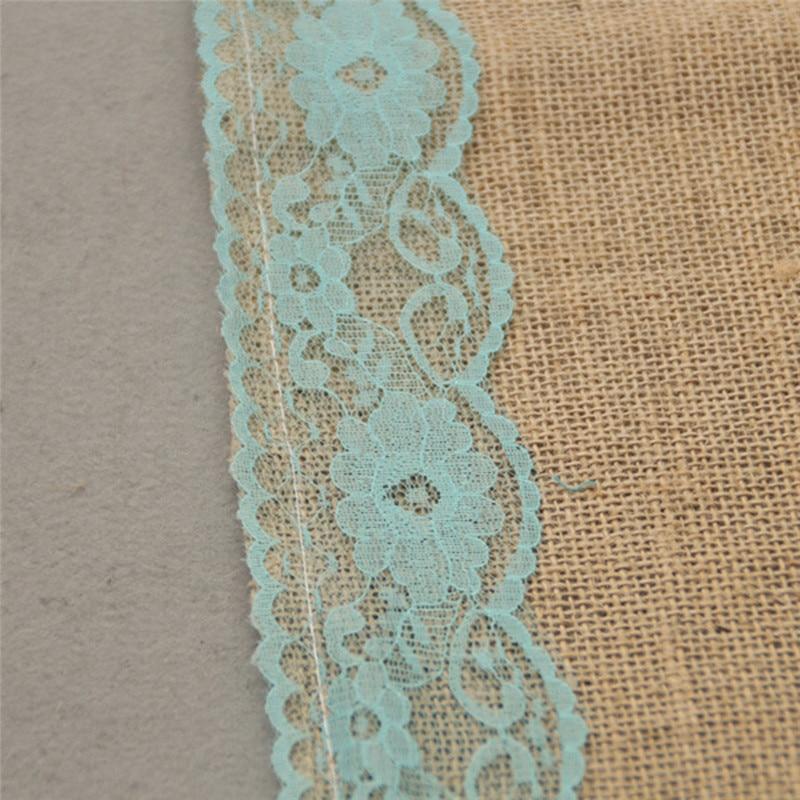 Imixlot Rural Linen Ribbon Natural Jute Cloth Burlap Roll for Table Runner Tablecloth DIY Sewing Craft Accessories