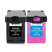 2pk 121XL Remanufactured for HP 121 XL Ink Cartridge for HP Deskjet D2563 F4283 F2483 F2493 F4213 F4275 F4283 F4583 printer