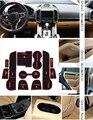For Porsche Cayenne 2010-2015 Car Anti slip dust mat sticker gate slot pad door carpets Interior cup holder decoration
